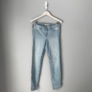 Hollister light wash denim leggings